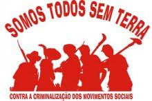Imagem do MST sobre criminalização dos trabalhadores do campo e dos movimentos socais