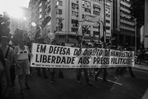 Rio de Janeiro, 8 de Janeiro de 2016, 1º ato contra o aumento abusivo das tarifas de transporte público.