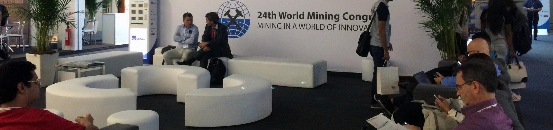 Evento ocorreu no Rio de Janeiro, com presença dos direitos das mais importantes mineradoras do mundo