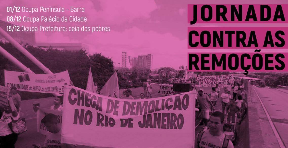 jornada contra as remocoes