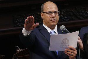 Rio de Janeiro - O governador Wilson Witzel toma posse na Assembleia Legislativa do Estado do Rio de Janeiro (Alerj) na manhã de hoje (1). (Foto: Tomaz Silva/Agência Brasil)