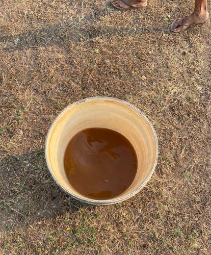 Água que o povo Guatò está bebendo. Créditos: FEPOIMT