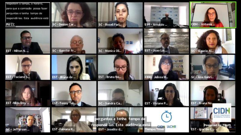 Organizações da sociedade civil refutam respostas do Estado brasileiro em audiência da OEA