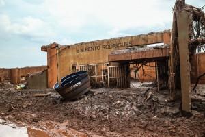 Fachada da Escola Municipal de Bento Rodrigues.