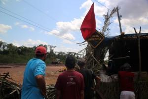 A ocupação foi durante a Jornada Nacional de Lutas por Reforma Agrária (07.08.2015).